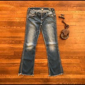 """Women's Silver Jeans Frances 18"""" Bootcut 32"""" C2304"""